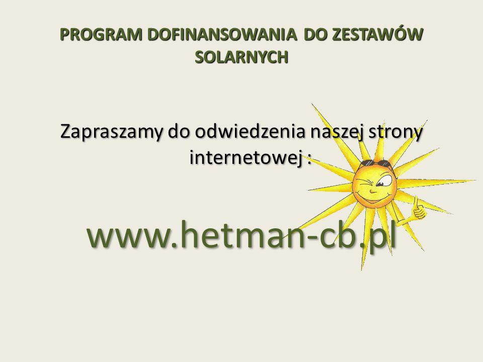 Zapraszamy do odwiedzenia naszej strony internetowej : www.hetman-cb.pl