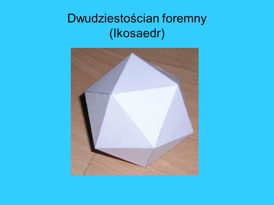 Dwudziestościan foremny (Ikosaedr)