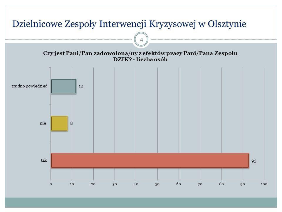 Działalność Dzielnicowych Zespołów Interwencji Kryzysowej w Olsztynie 35