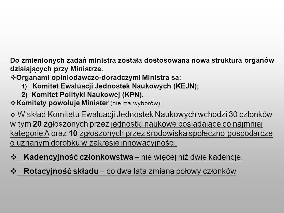 Do zmienionych zadań ministra została dostosowana nowa struktura organów działających przy Ministrze. Organami opiniodawczo-doradczymi Ministra są: 1)