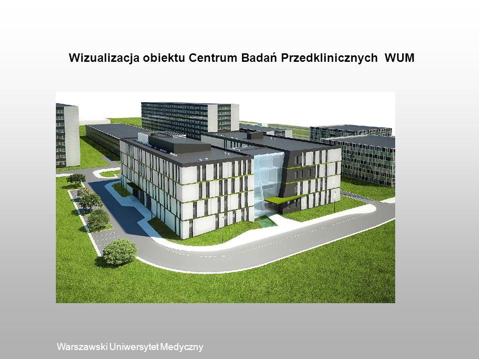 Warszawski Uniwersytet Medyczny Wizualizacja obiektu Centrum Badań Przedklinicznych WUM