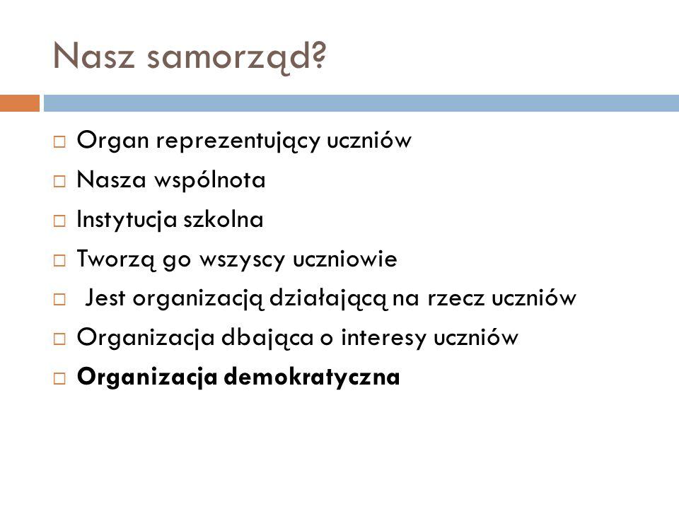 Kilka pytań do… Jakiej postawy demokratycznej uczy nas uczniów Samorząd uczniowski.
