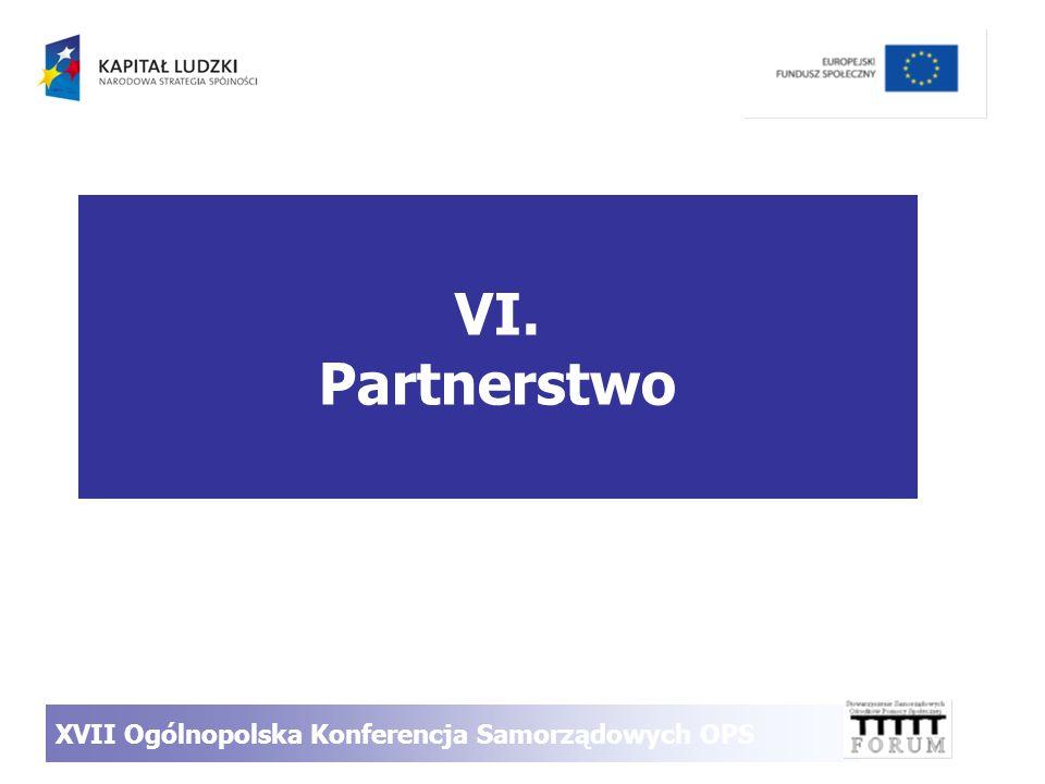 VI. Partnerstwo XVII Ogólnopolska Konferencja Samorządowych OPS