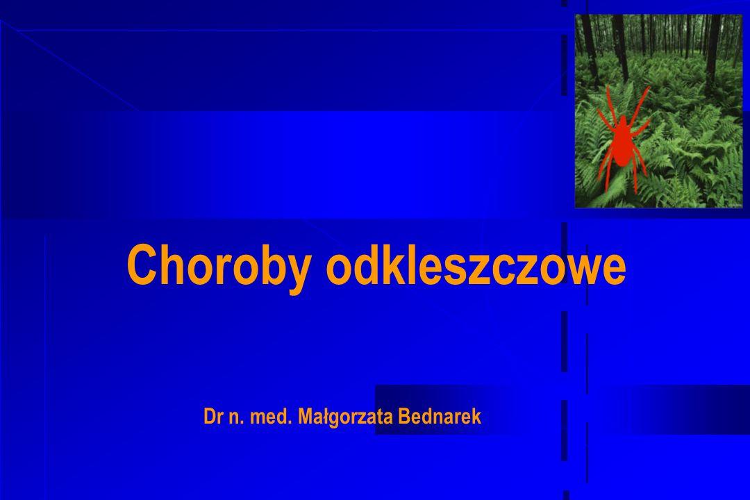 Kleszcze (pajęczaki ) Wyróżnia się 2 rodziny kleszczy: Twarde (Ixodidae) Miękkie (Argasidae) Pasożytami sa wszystkie formy kleszcza