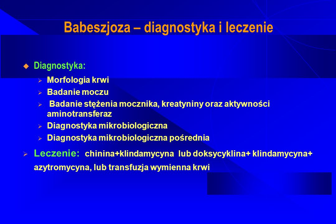 Ludzka anaplazmoza granulocytarna (Ehrlichioza) Ostra bakteryjna choroba gorączkowa, antropozoonoza przenoszona przez kleszcze, wywołana przez zakażenie Anaplasma phagocytophilum (tworzy morule ) Droga zakażenia: poprzez skórę, zakażenie okołoporodowe, zakażona krew