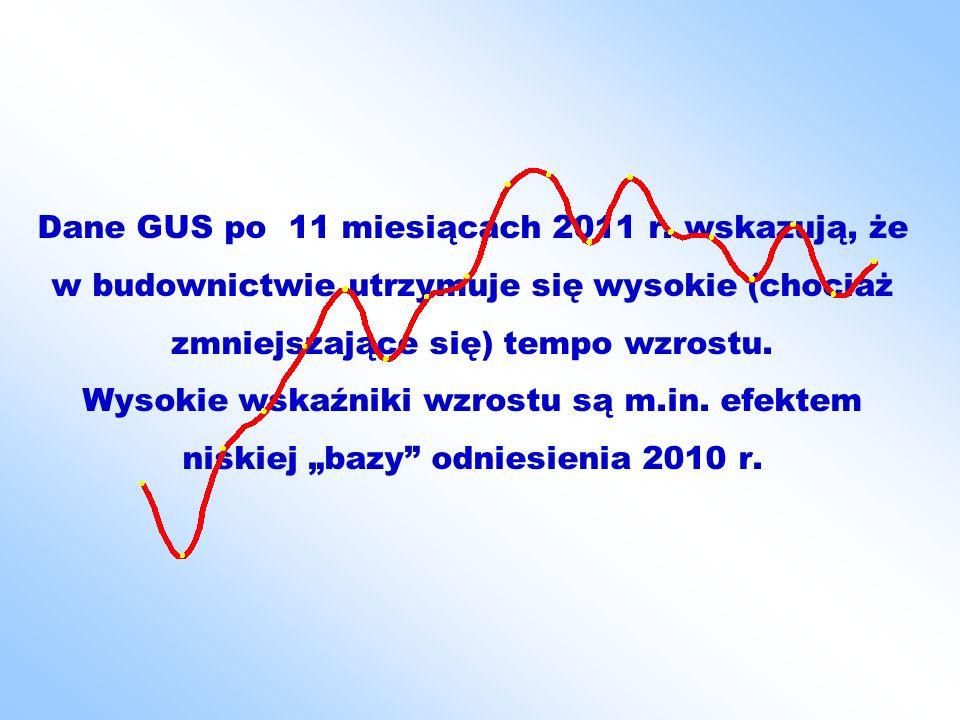 Dane GUS po 11 miesiącach 2011 r.