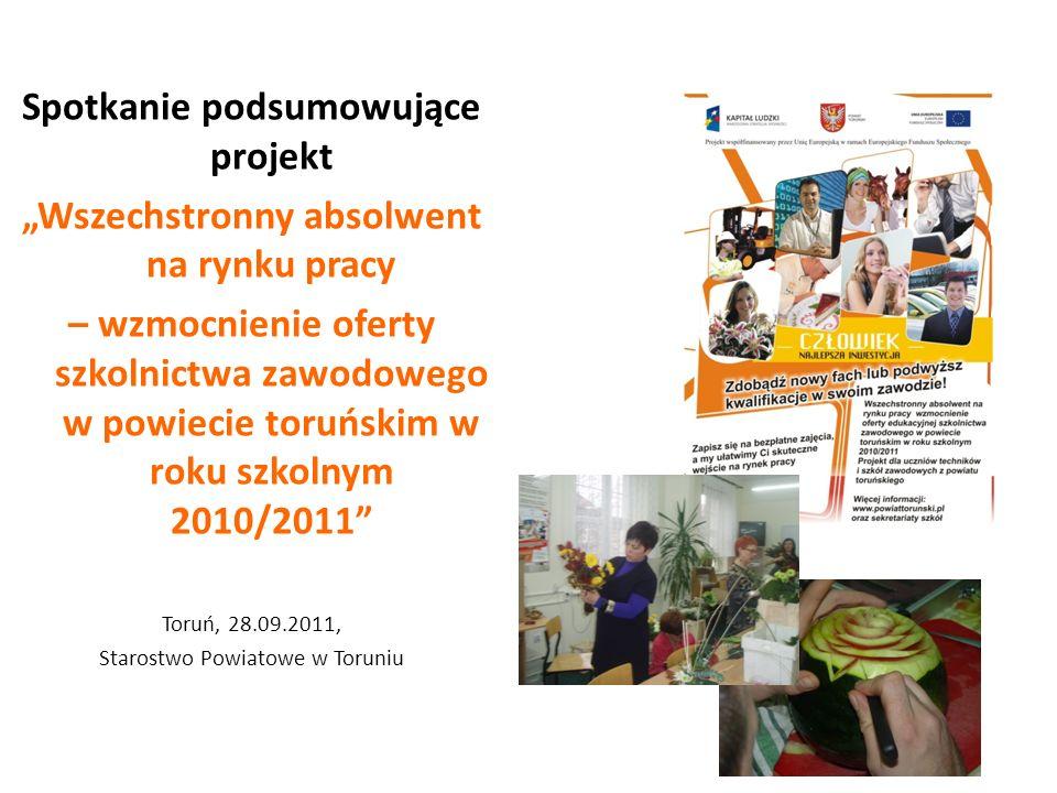 Projekt współfinansowany przez Unię Europejską w ramach Europejskiego Funduszu Społecznego okres realizacji: 01.09.2011 - 31.08.2012 wartość projektu: 370 346 zł, w tym 55 551 zł wkład własny wsparcie dla: 10 nauczycieli i 245 uczniów Nowy projekt - edycja 2011/2012