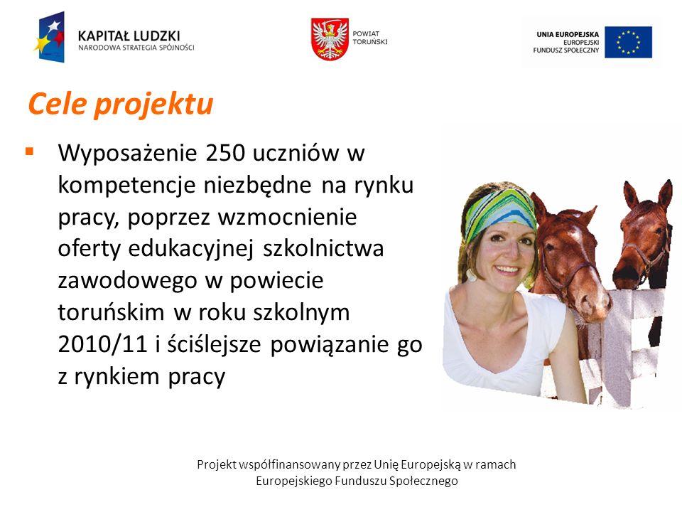 Wyposażenie 250 uczniów w kompetencje niezbędne na rynku pracy, poprzez wzmocnienie oferty edukacyjnej szkolnictwa zawodowego w powiecie toruńskim w r