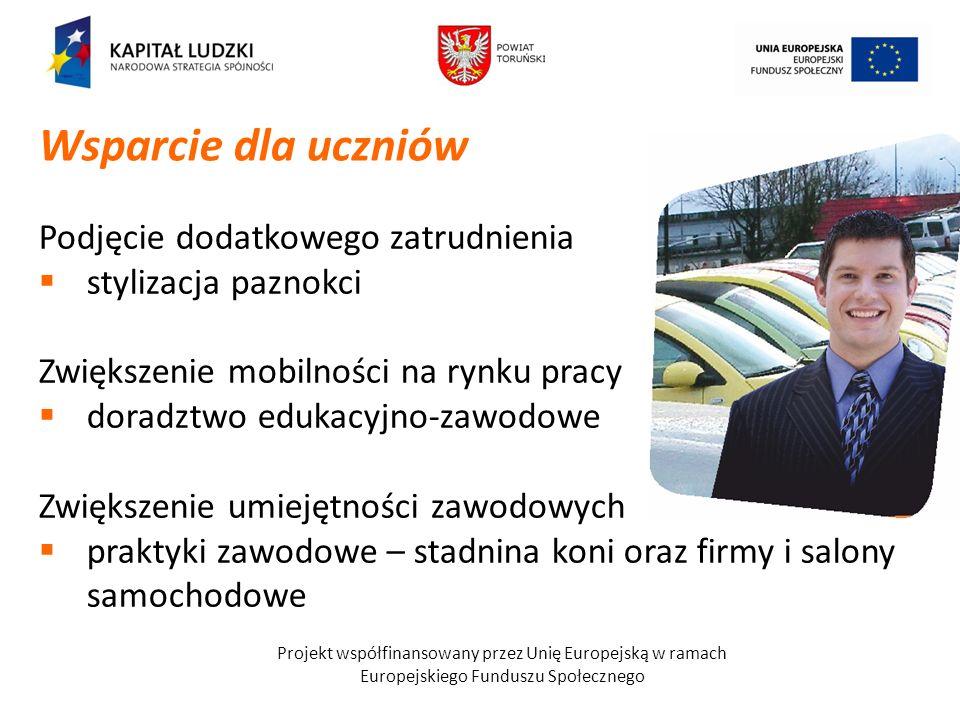 Projekt współfinansowany przez Unię Europejską w ramach Europejskiego Funduszu Społecznego ZajęciaZS w ChełmżyZS CKU w GronowieZSS w Chełmży FlorystykaXXX CarvingXXX Barman-kelnerX PrzedsiębiorczośćX J.