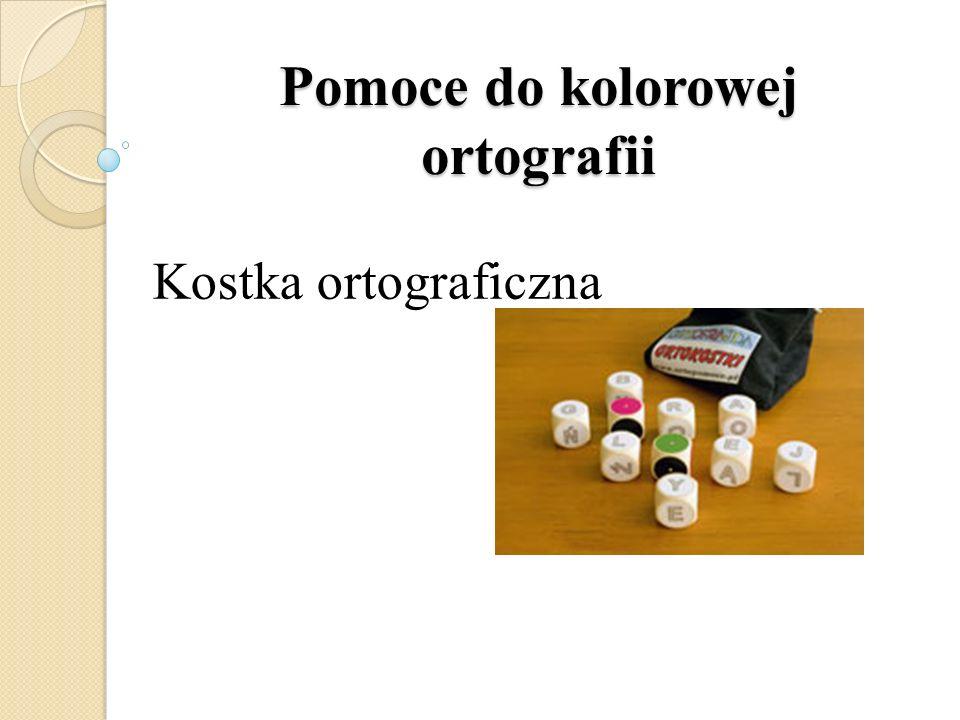 Pomoce do kolorowej ortografii Kostka ortograficzna