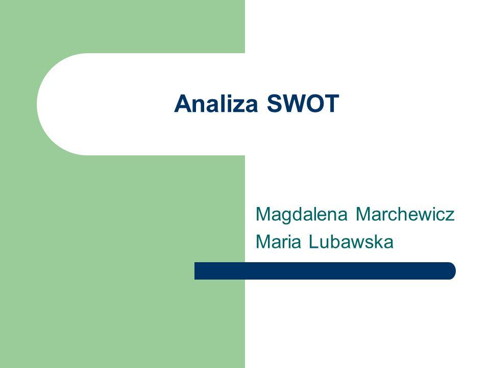 Analiza SWOT Magdalena Marchewicz Maria Lubawska