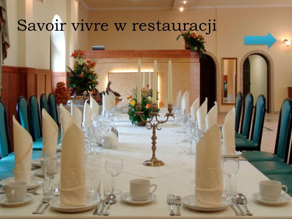 Savoir vivre w restauracji