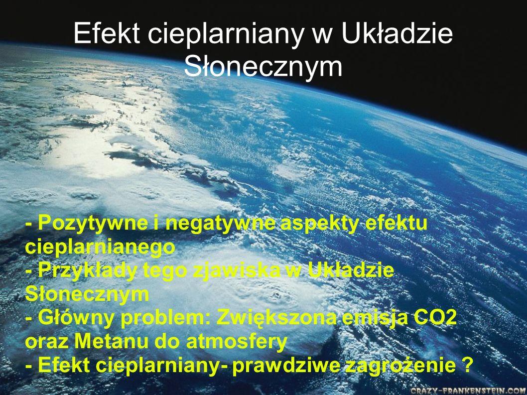 Efekt cieplarniany w Układzie Słonecznym - Pozytywne i negatywne aspekty efektu cieplarnianego - Przykłady tego zjawiska w Układzie Słonecznym - Główn