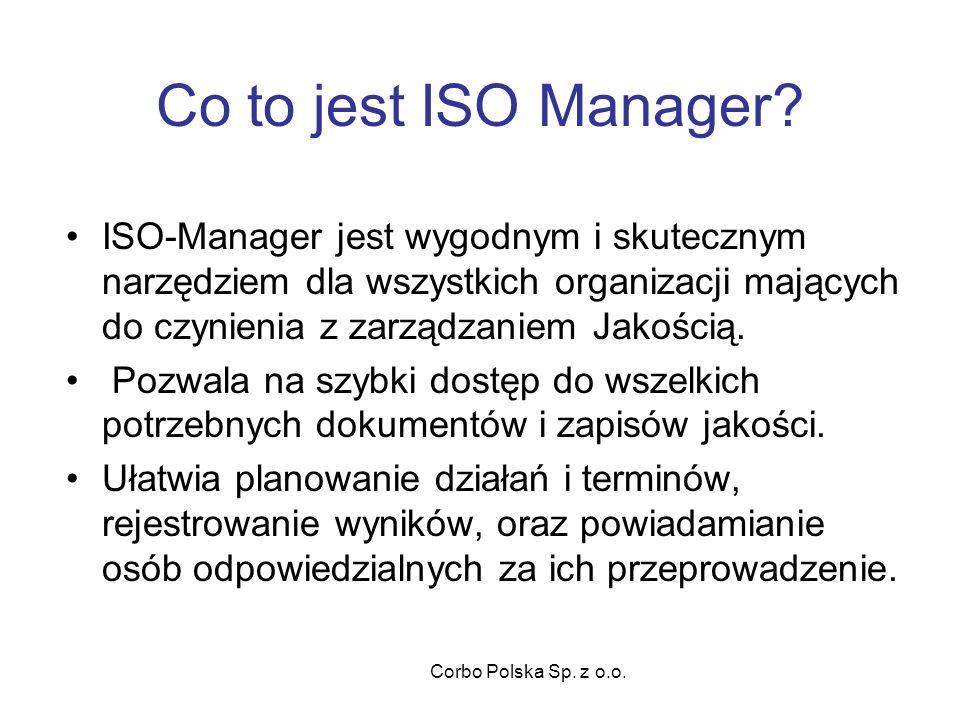 Corbo Polska Sp. z o.o. Co to jest ISO Manager.
