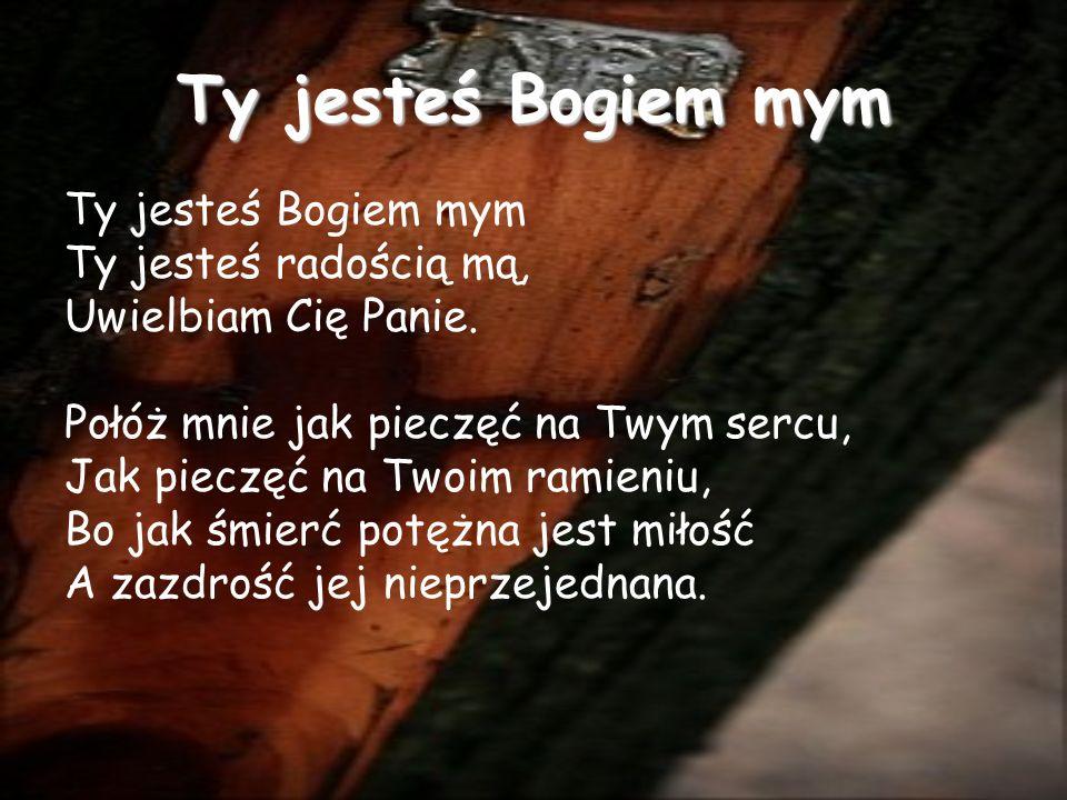 Ty jesteś Bogiem mym Ty jesteś radością mą, Uwielbiam Cię Panie.