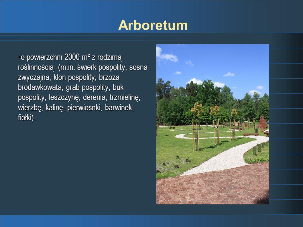 o powierzchni 2000 m² z rodzimą roślinnością (m.in. świerk pospolity, sosna zwyczajna, klon pospolity, brzoza brodawkowata, grab pospolity, buk pospol