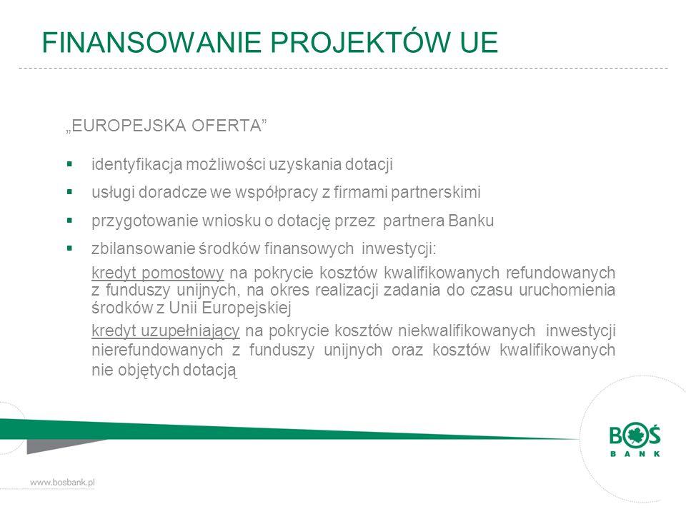 EUROPEJSKA OFERTA identyfikacja możliwości uzyskania dotacji usługi doradcze we współpracy z firmami partnerskimi przygotowanie wniosku o dotację prze