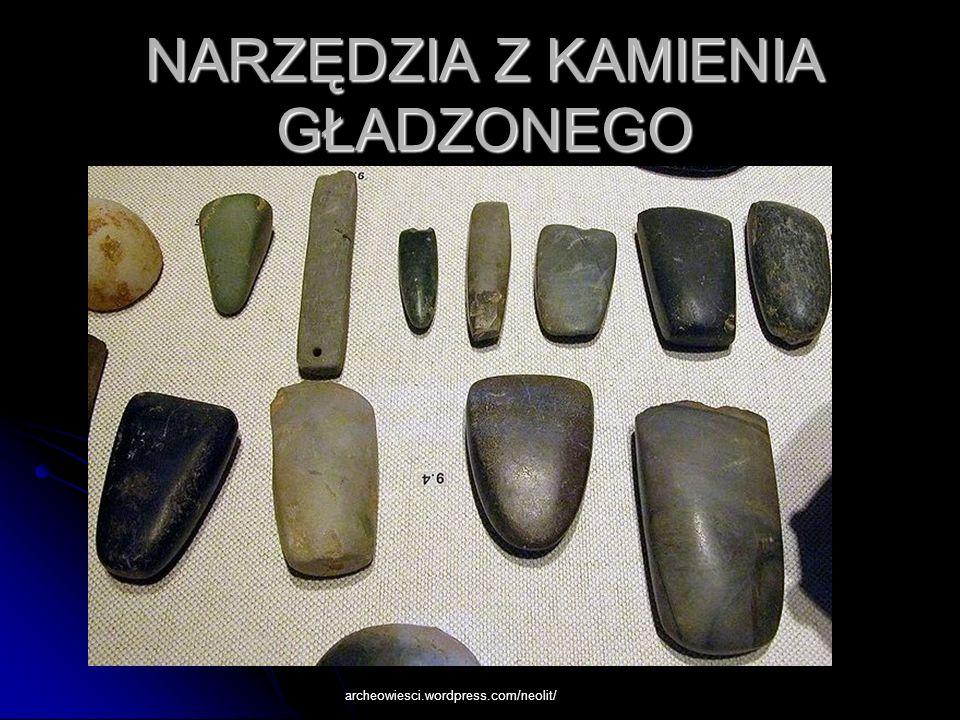 1.Siekiera z krzemienia.2.Grot strzały z krzemienia 3.Topór kamienny (Muzeum Archeologiczne.