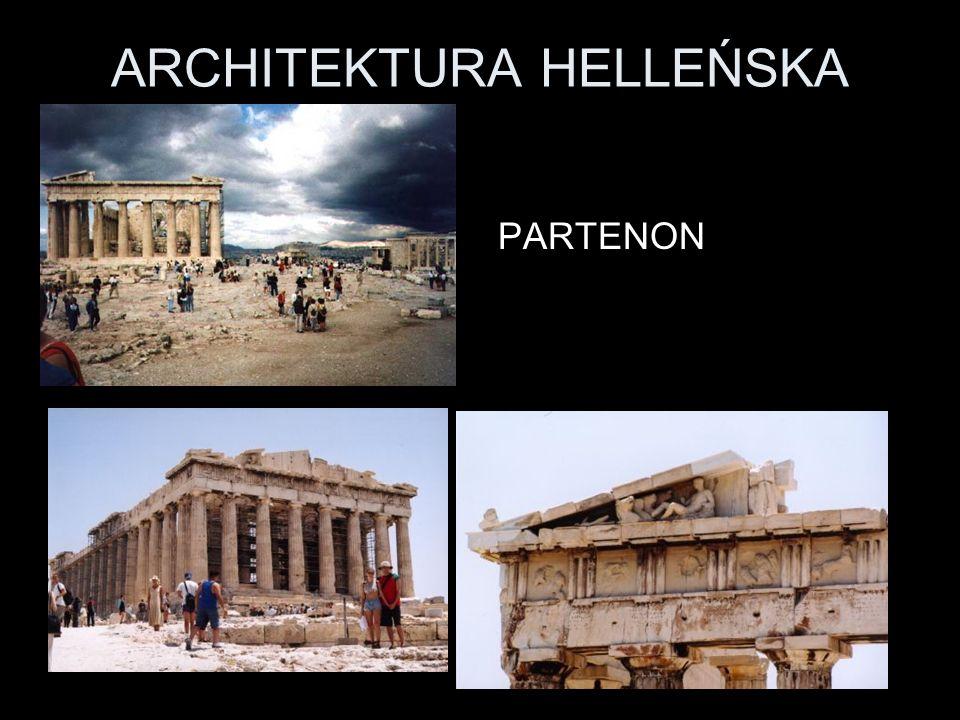 ARCHITEKTURA HELLEŃSKA PARTENON