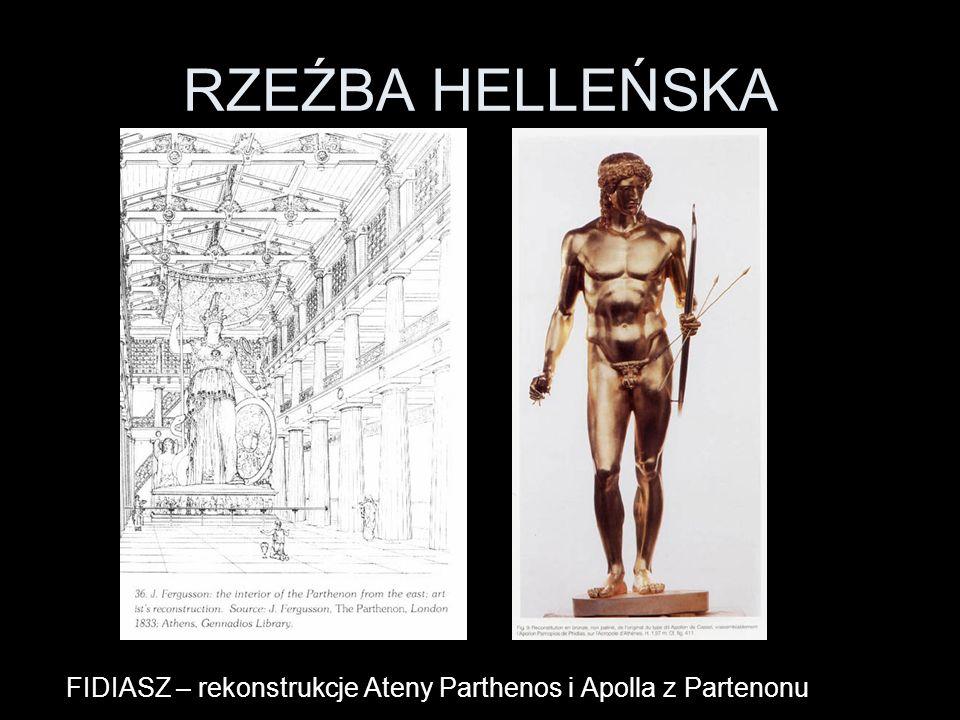 RZEŹBA HELLEŃSKA FIDIASZ – rekonstrukcje Ateny Parthenos i Apolla z Partenonu