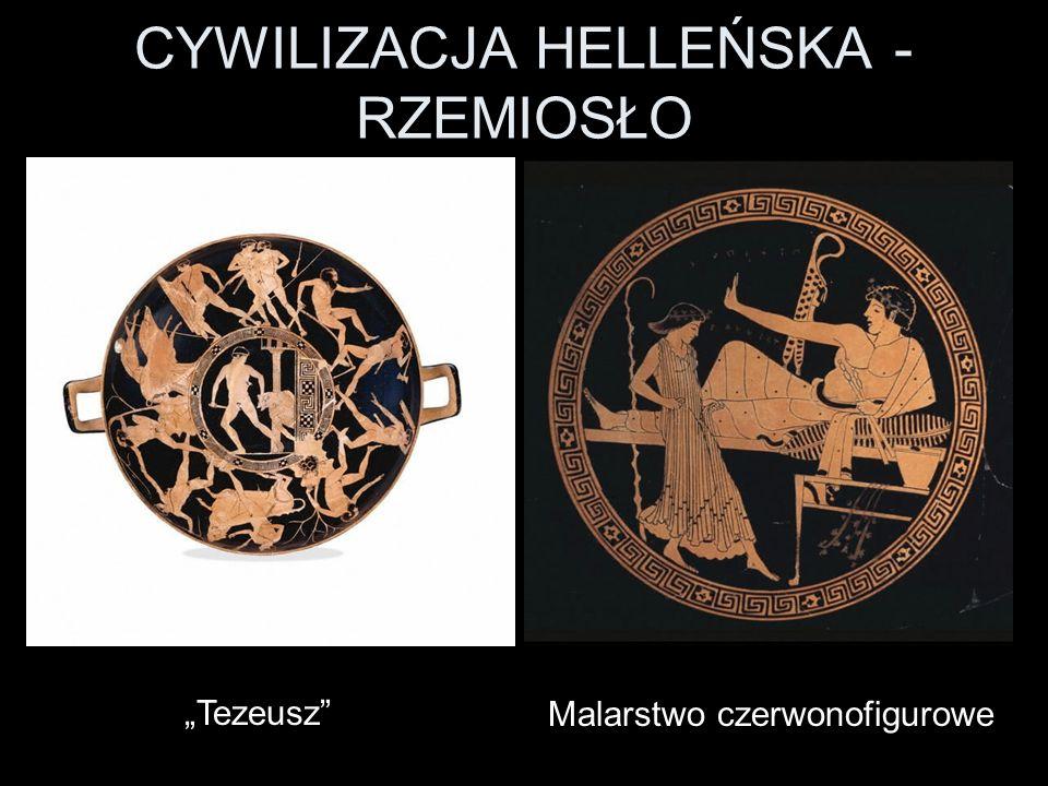 CYWILIZACJA HELLEŃSKA - RZEMIOSŁO Malarstwo czerwonofigurowe Tezeusz