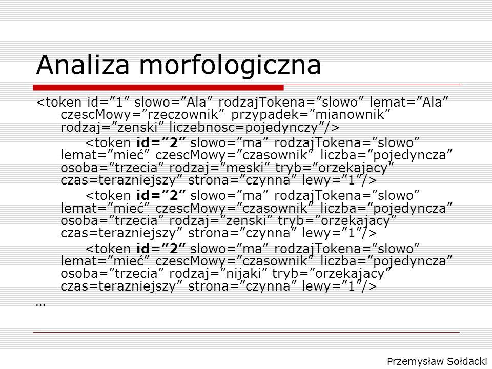 Przemysław Sołdacki Analiza morfologiczna …
