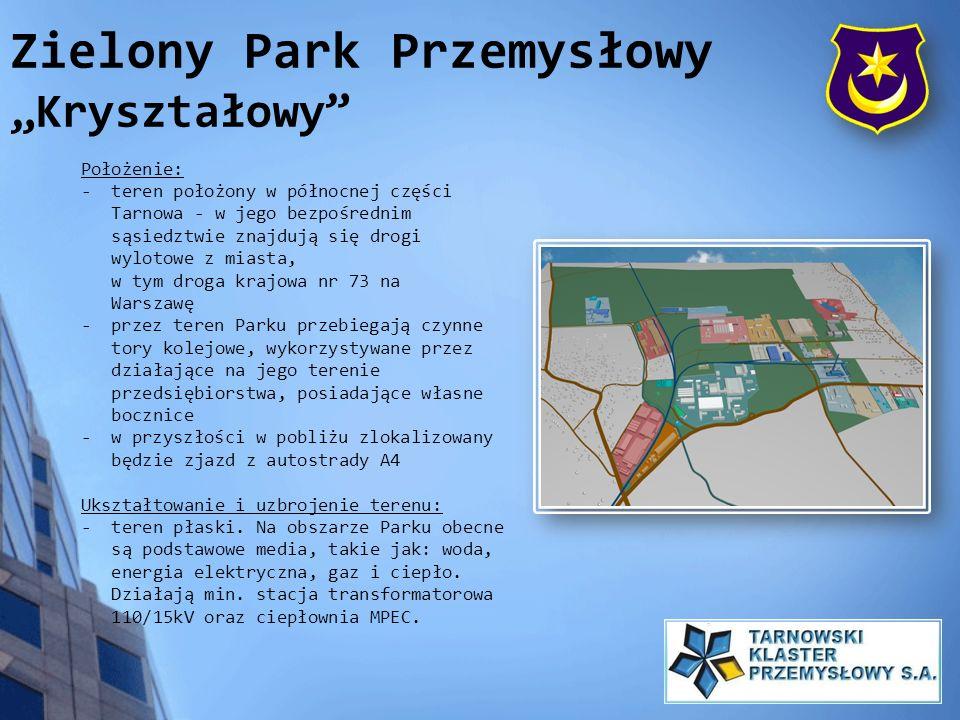 Położenie: - teren położony w północnej części Tarnowa - w jego bezpośrednim sąsiedztwie znajdują się drogi wylotowe z miasta, w tym droga krajowa nr