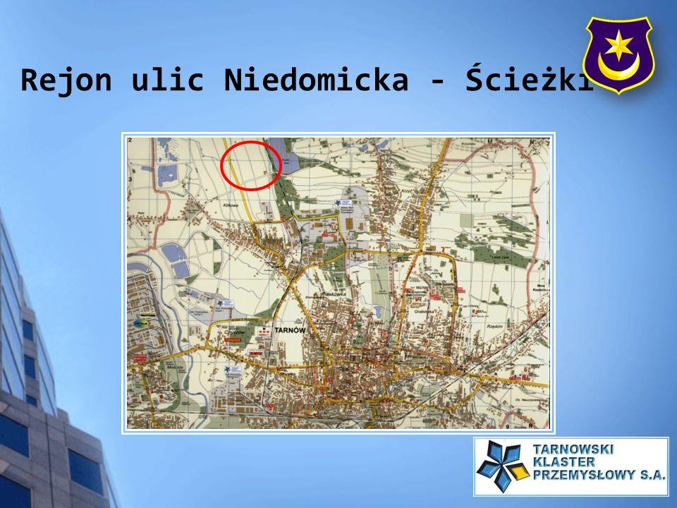Rejon ulic Niedomicka - Ścieżki