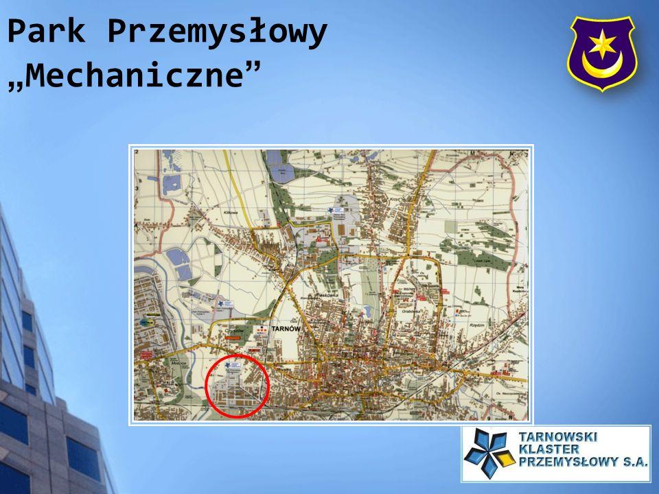 Położenie: - teren dostępny komunikacyjnie z drogi E-73 (Tarnów – Warszawa) - teren w pobliżu zjazdu z projektowanej autostrady A4 (węzeł Krzyski ok.