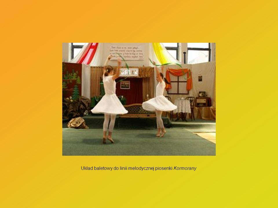Układ baletowy do linii melodycznej piosenki Kormorany