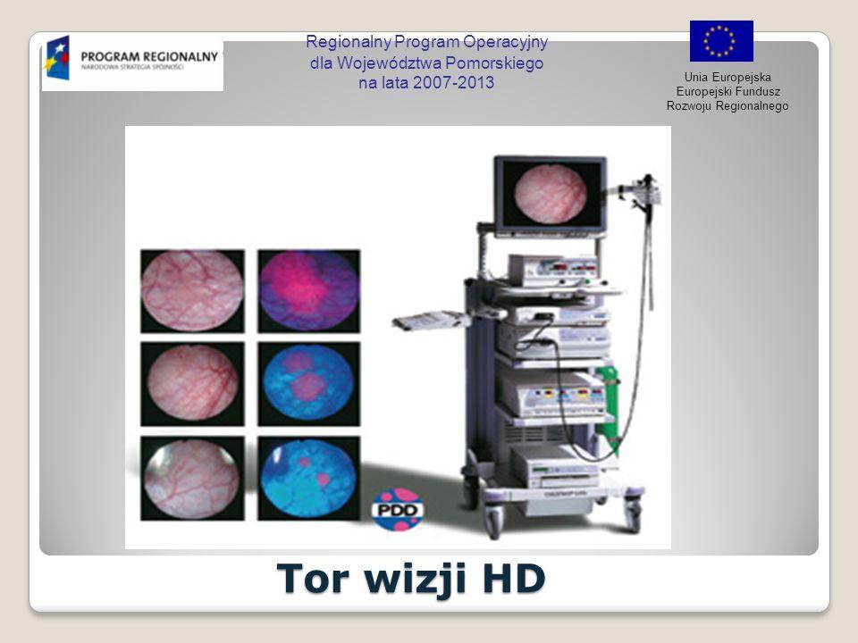 Regionalny Program Operacyjny dla Województwa Pomorskiego na lata 2007-2013 Unia Europejska Europejski Fundusz Rozwoju Regionalnego Tor wizji HD Tor w