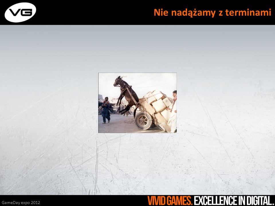 GameDay expo 2012 Nie nadążamy z terminami