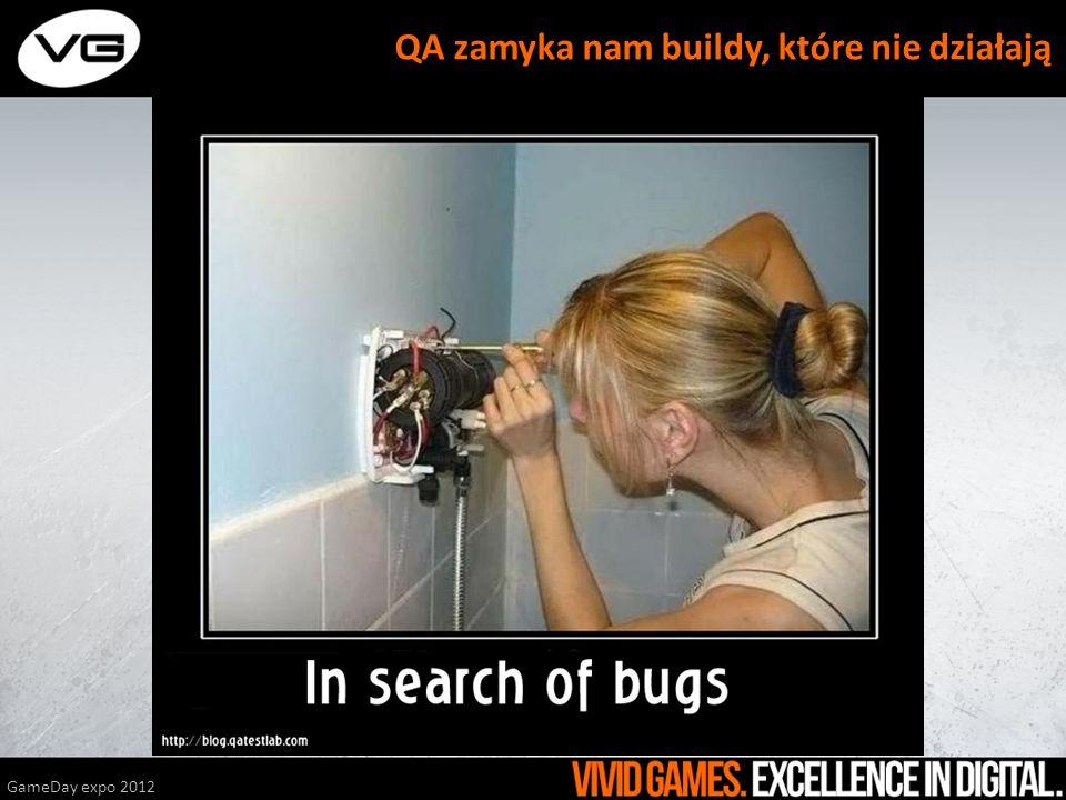 GameDay expo 2012 QA zamyka nam buildy, które nie działają