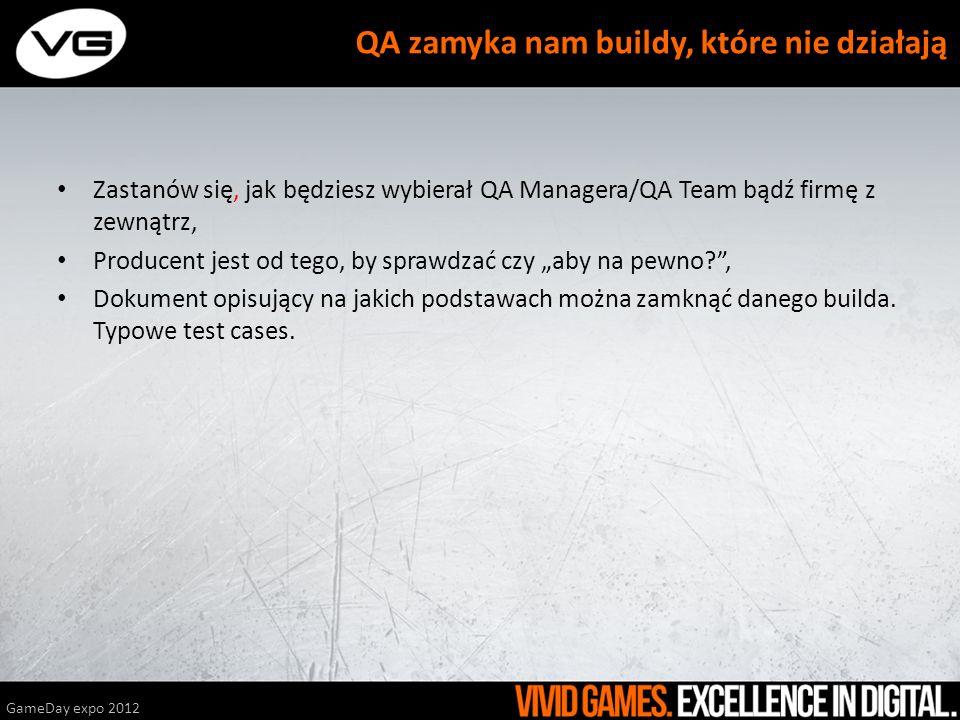 Zastanów się, jak będziesz wybierał QA Managera/QA Team bądź firmę z zewnątrz, Producent jest od tego, by sprawdzać czy aby na pewno?, Dokument opisuj