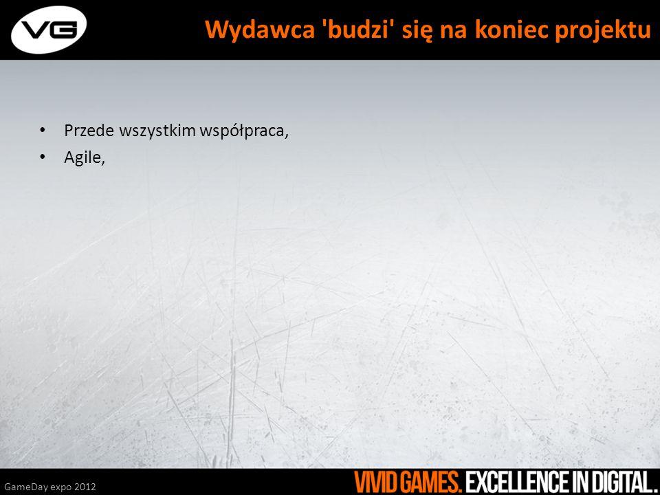 Przede wszystkim współpraca, Agile, GameDay expo 2012 Wydawca 'budzi' się na koniec projektu