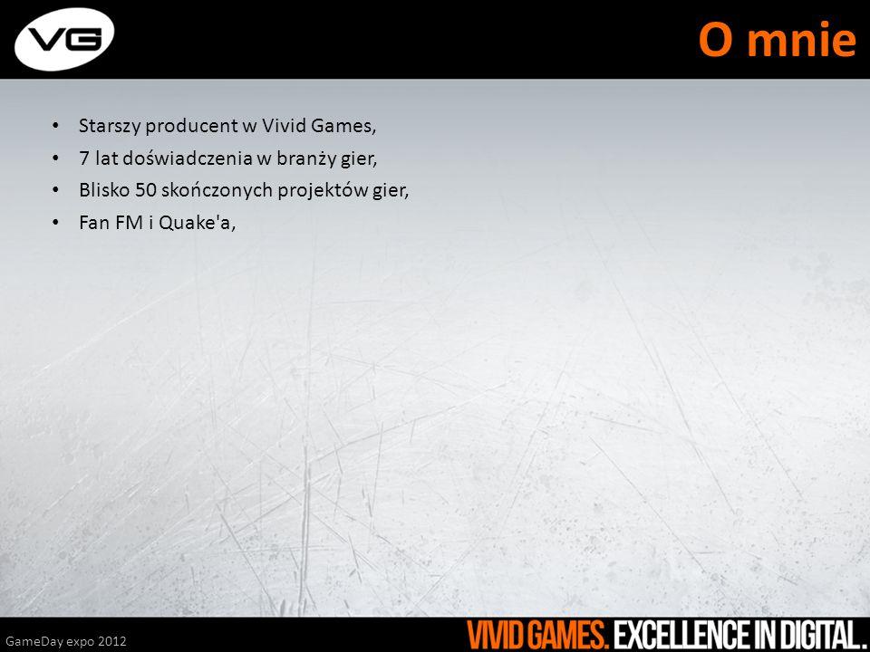 Starszy producent w Vivid Games, 7 lat doświadczenia w branży gier, Blisko 50 skończonych projektów gier, Fan FM i Quake'a, GameDay expo 2012 O mnie