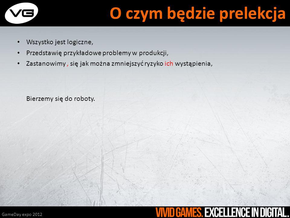 QA powinno zacząć się ASAP, GameDay expo 2012 Grę testuje tylko firmowe QA