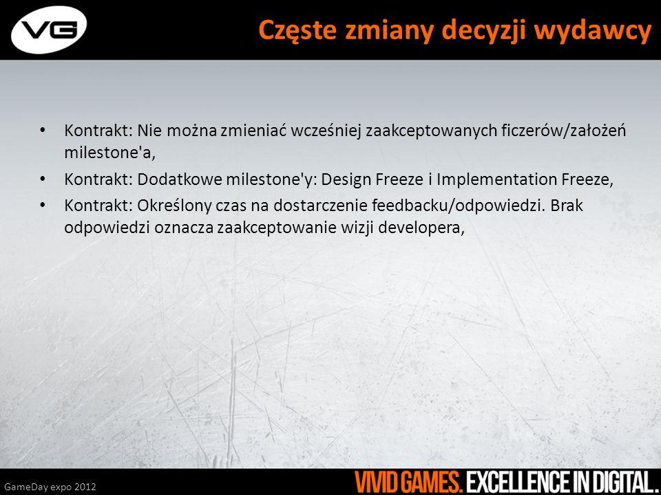 GameDay expo 2012 Feedback od Marketing/Sales za późno