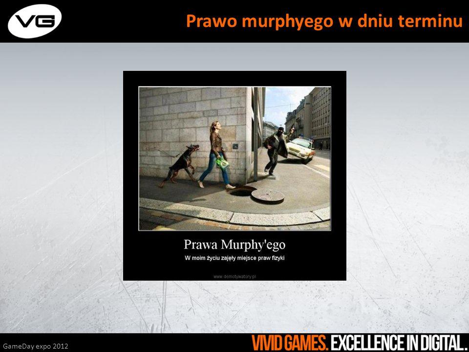 GameDay expo 2012 Prawo murphyego w dniu terminu