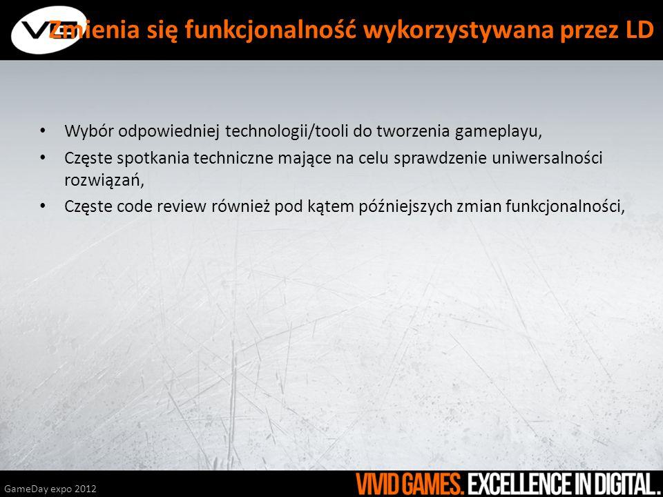 Wybór odpowiedniej technologii/tooli do tworzenia gameplayu, Częste spotkania techniczne mające na celu sprawdzenie uniwersalności rozwiązań, Częste c