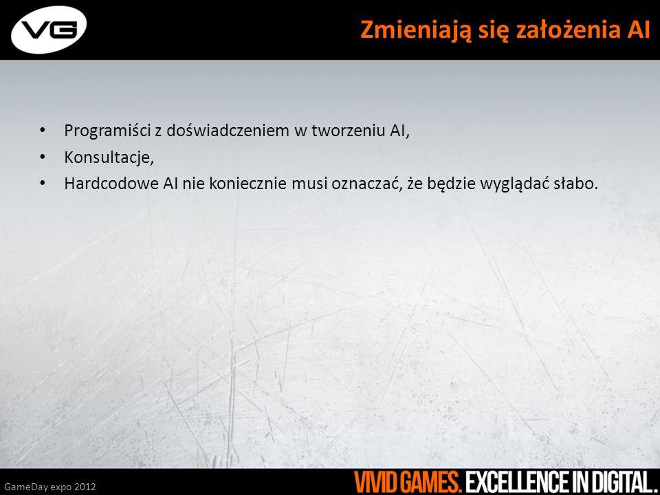 Programiści z doświadczeniem w tworzeniu AI, Konsultacje, Hardcodowe AI nie koniecznie musi oznaczać, że będzie wyglądać słabo. GameDay expo 2012 Zmie