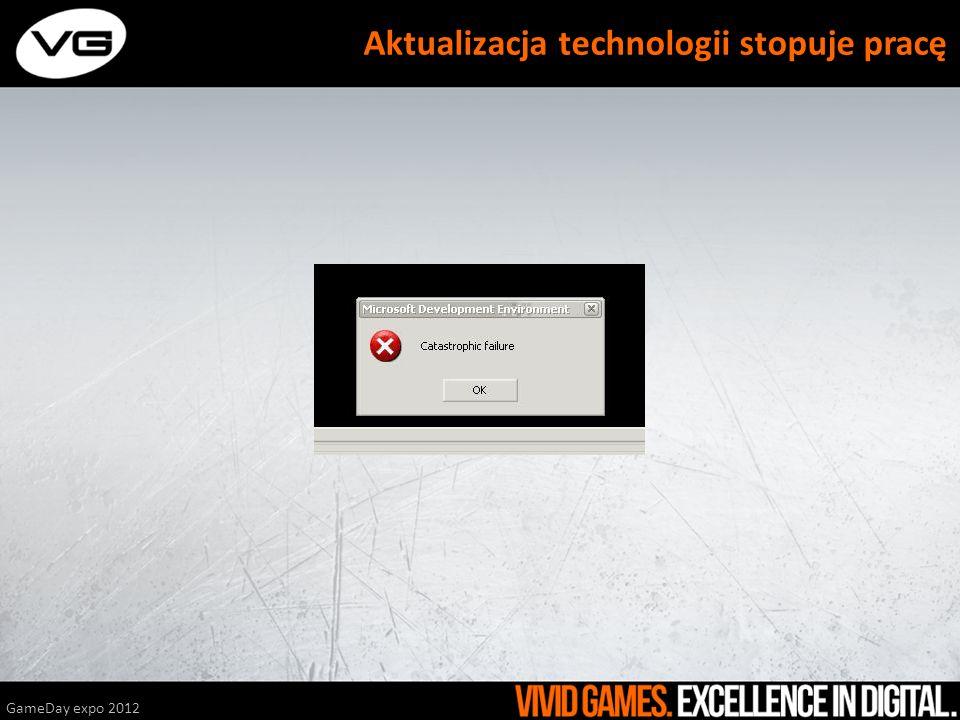 GameDay expo 2012 Aktualizacja technologii stopuje pracę