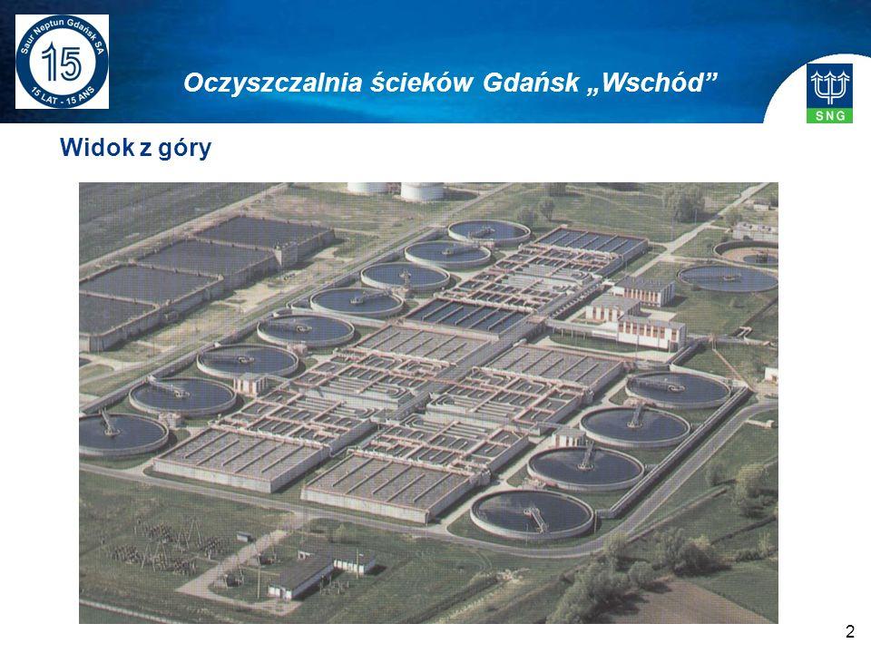 2 Widok z góry Oczyszczalnia ścieków Gdańsk Wschód