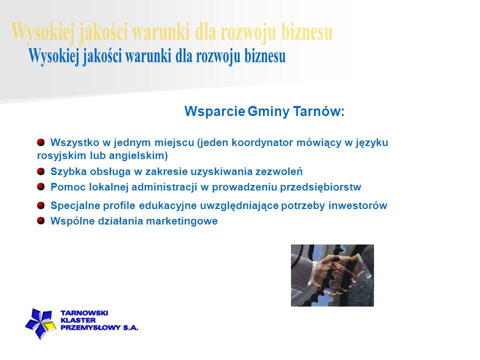 Wszystko w jednym miejscu (jeden koordynator mówiący w języku rosyjskim lub angielskim) Wsparcie Gminy Tarnów: Szybka obsługa w zakresie uzyskiwania z