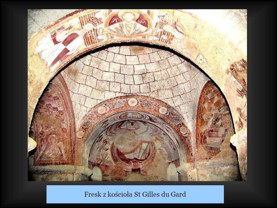 Fresk z kościoła St Gilles du Gard