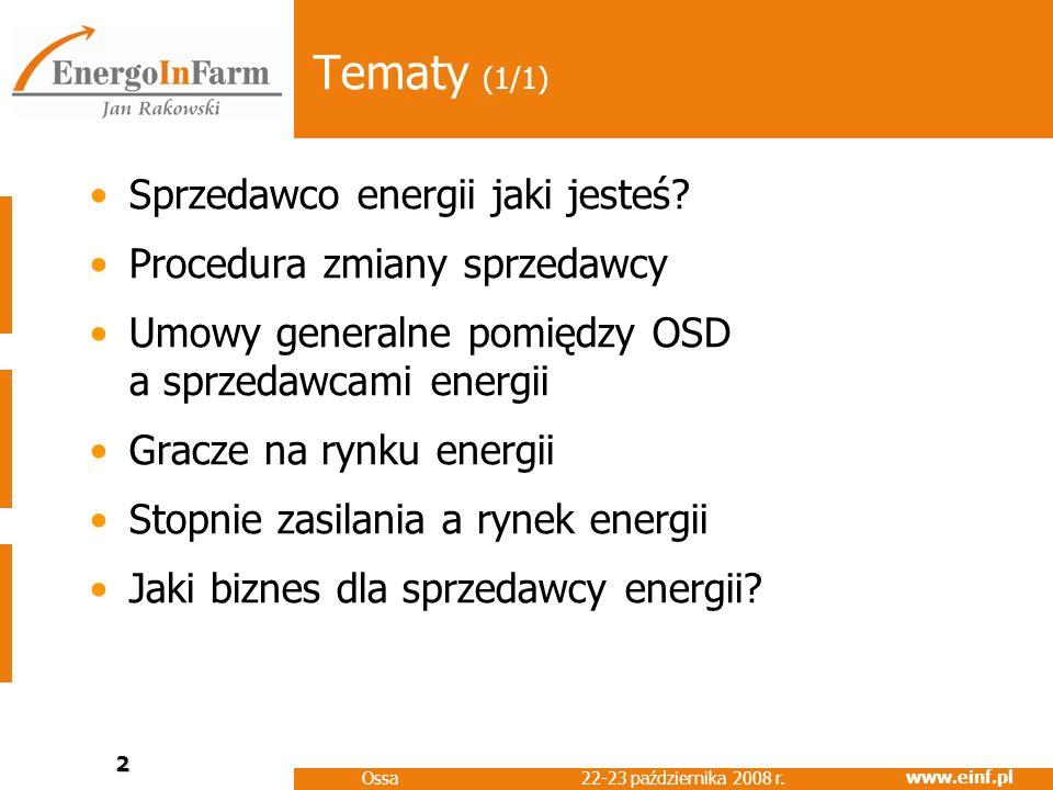 www.einf.pl 22-23 października 2008 r.Ossa 3 Sprzedawco energii jaki jesteś.