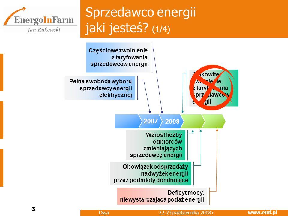 www.einf.pl 22-23 października 2008 r.Ossa 4 Sprzedawco energii jaki jesteś.
