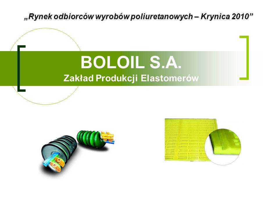 BOLOIL S.A. Zakład Produkcji Elastomerów Rynek odbiorców wyrobów poliuretanowych – Krynica 2010