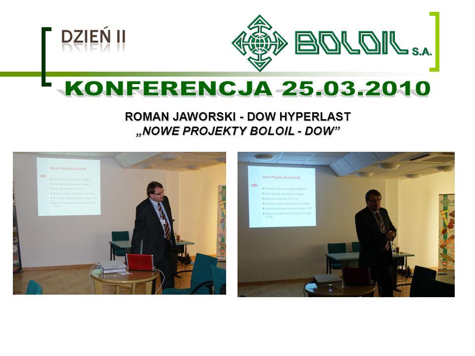 ROMAN JAWORSKI - DOW HYPERLAST NOWE PROJEKTY BOLOIL - DOW