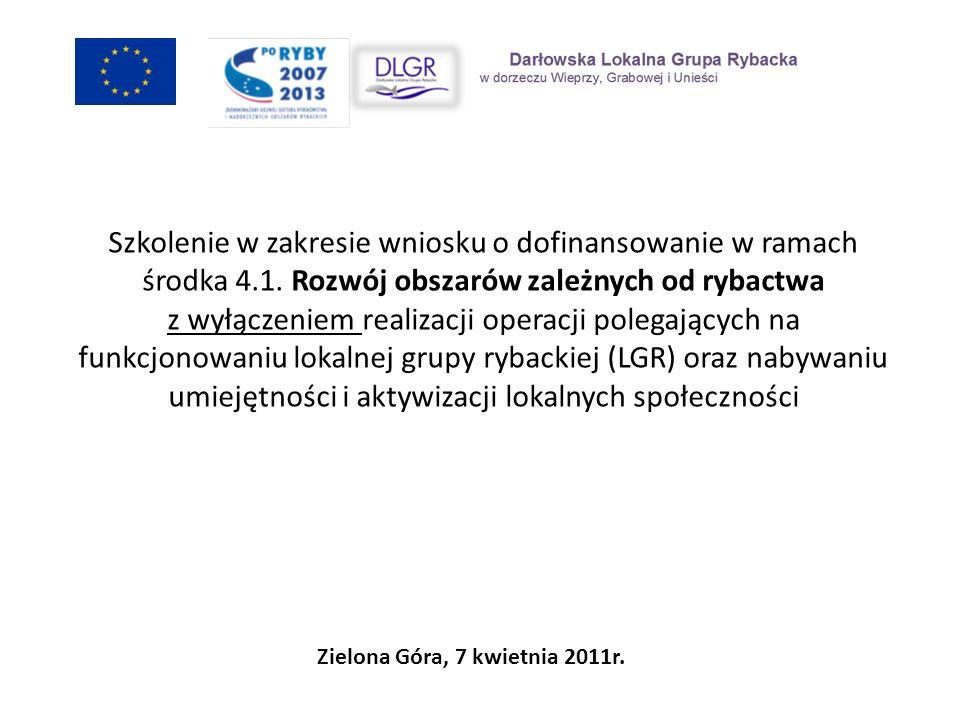 Zobowiązania LGR Niezwłoczne informowanie SW o zdarzeniach związanych ze zmianą sytuacji faktycznej lub prawnej LGR; Bezpłatne świadczenie przez pracowników biura LGR doradztwa w zakresie przygotowania wniosku o dofinansowanie; Posiadanie i utrzymywanie biura LGR zgodnie z opisem technicznym załączonym do wniosku/zawartym w umowie zmiany akceptacja SW